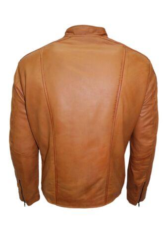 di agnello pelle casual di Giacca nuovo da City motociclista morbida da uomo in Casual uomo da stile lusso wqIItUX