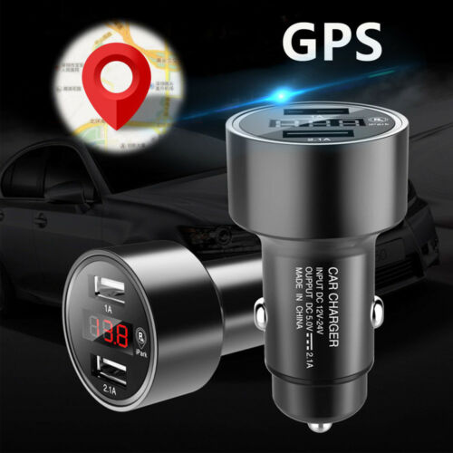 Car Charger Bluetooth GPS Locator Tracker Real Time Track Dual USB Fast Charge