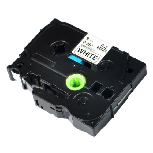 """10PK TZ221 TZe221 Black on White Label Tape for Brother P-Touch PT-1160 9mm 3//8/"""""""