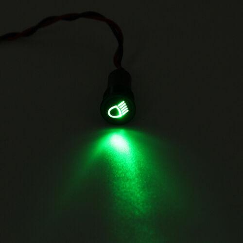 Waterproof 12V 24V 10mm Symbol LED Dash Panel Warning Pilot Light Indicator Lamp