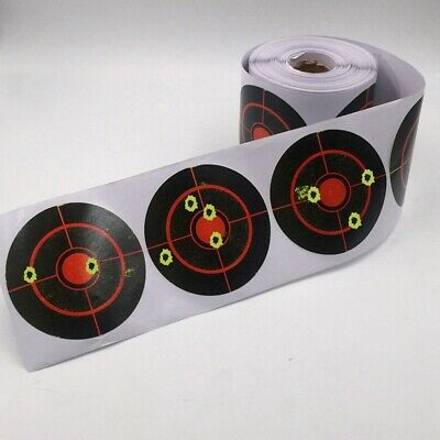 250pcs//Roll 3inch Self-adhesive Shooting Splatter Target Reactive Target Sticker