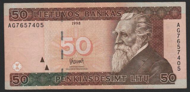 Lithuania 50 Litu 1998 F P#61 #2