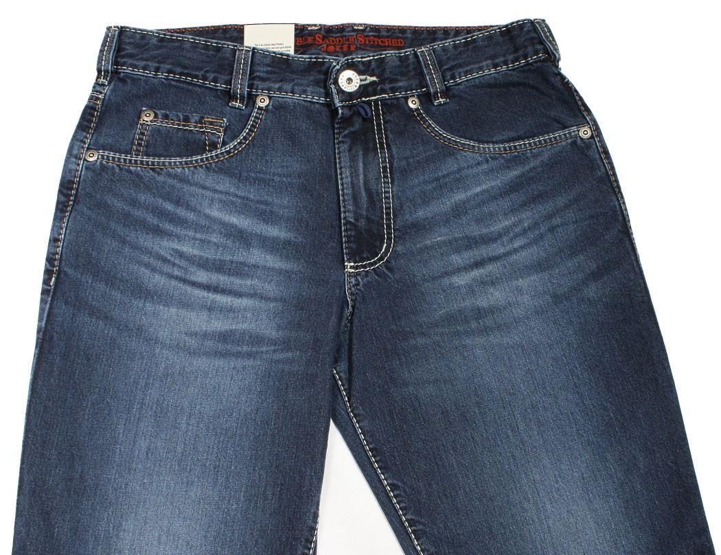 JOKER Jeans CLARK 2249-0351 manMade darkstone used Buffies W32 L36 -sofort-