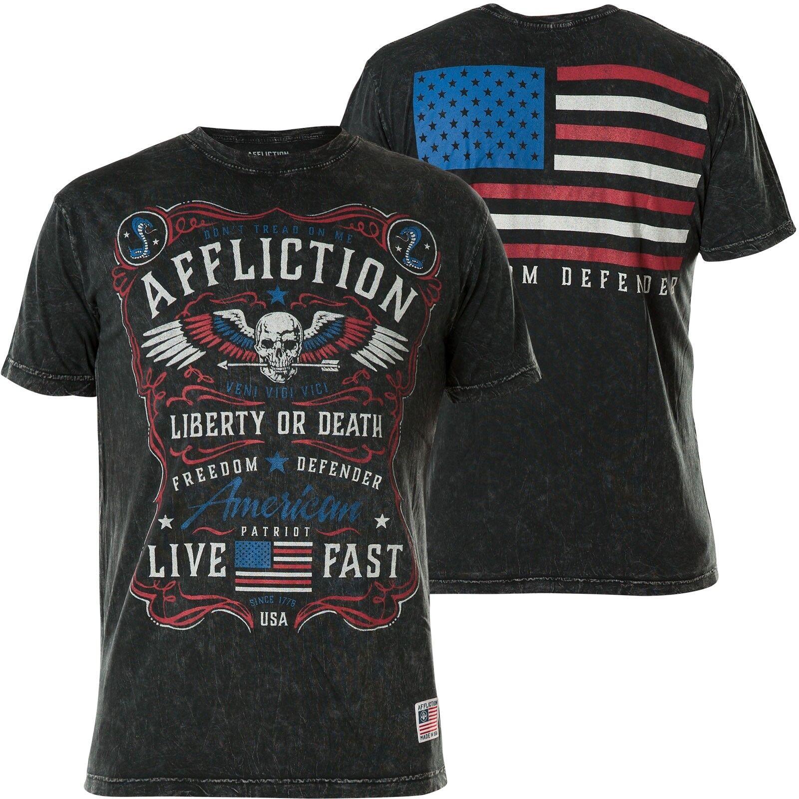 AFFLICTION T-Shirt Dont Tread Schwarz T-Shirts     | Genialität