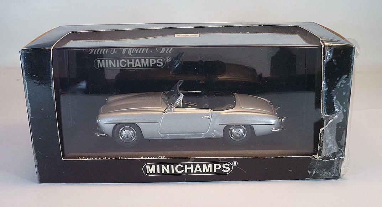 Minichamps 1/43 MERCEDES BENZ 190sl ARGENTO OVP #2974