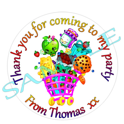 51MM LARGE Personalised Shopkins inspired Labels Stickers birthday