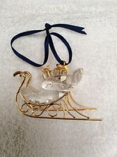Swarovski Crystal Christmas Sleigh Hanging Tree Ornament Decoration