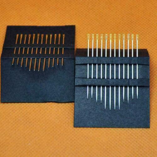 Self-threading Needles 48 Pack Assorted Sizes Thread Pins Stitch HOT V6X8 S Z8F3