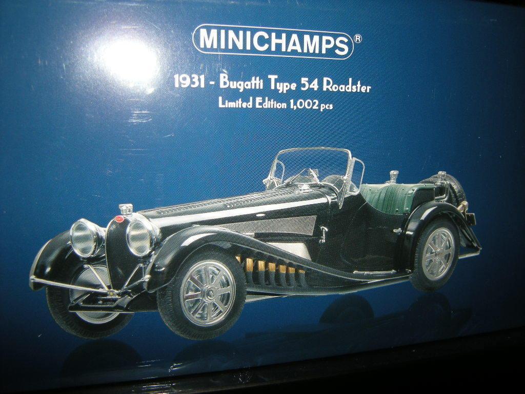1:18 Minichamps Bugatti Type 54 54 54 Roadster 1931 Prix Spécial 1 of 1002 in neuf dans sa boîte | Bonne Réputation Over The World  902c54