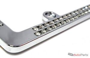 image is loading chrome diamond bling custom metal license plate frame