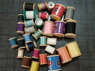 VIntage Nylon thread Lot of 6 spools 5 oz each BROWN  Olive New Old Stock
