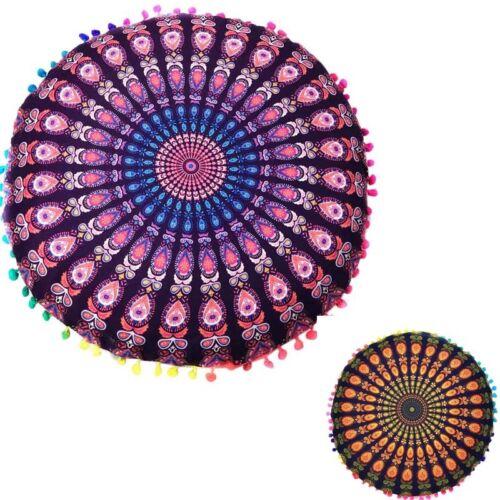 Indian Mandala Floor Pillow Case Round Bohemian Cushion Cushions Pillows Cover