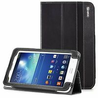 Poetic For Samsung Galaxy Tab 3 Lite [slimbook] Pu Leather Shockproof Case Black