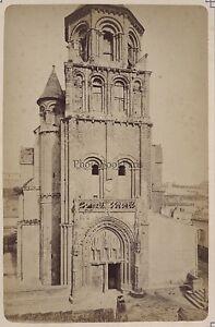 Francia Poitiers Chiesa Saint-Radegunde Foto Vintage Albumina c1880