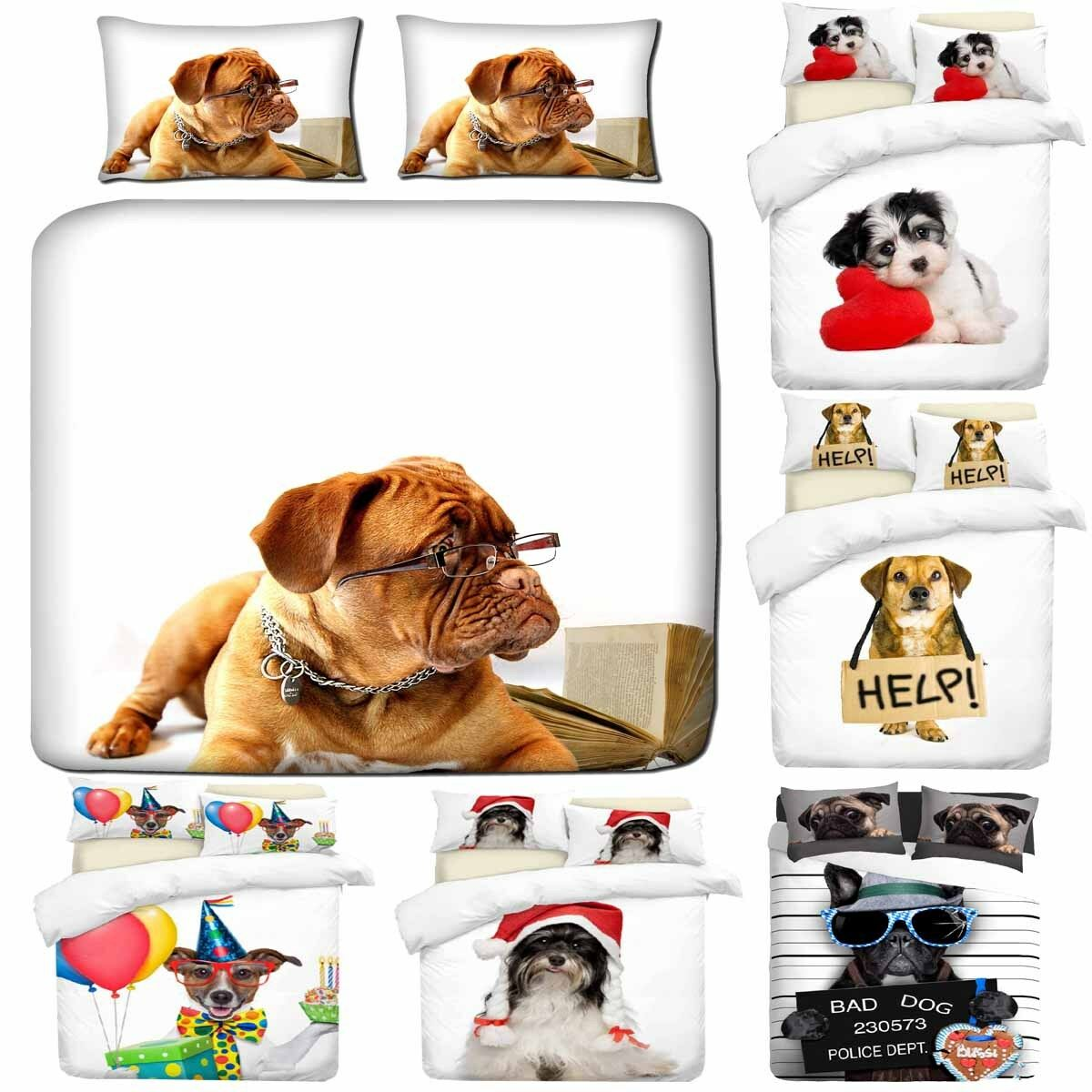 3D Digital Druckening Hunds Kunst Photo Drucken Duvet Quilt Startseites With Pillowcases
