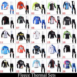 Invierno-Exterior-Deportes-Ciclismo-Hombre-termico-Jersey-BABERO-Pantalones