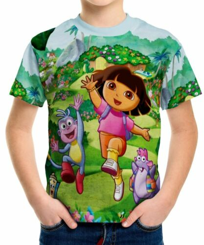 Dora The Explorer Boys Kid Youth T-Shirt Tee Age 3-13 New