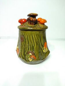 Vintage-10-034-Tree-Trunk-Mushroom-Cookie-Jar