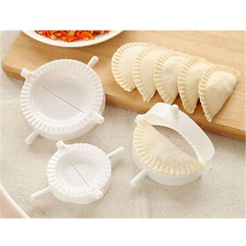 3pcs kitchen plastic dough press maker dumpling pie ravioli making mold mould cb