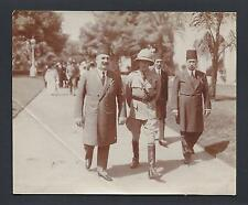 King Edward VIII & King Fuad I of Egypt Abdive Palace 1922 Antique Photo