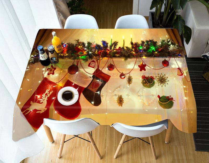 3D Christmas Xmas 68 Tablecloth Table Cover Cloth Birthday Party AJ WALLPAPER UK