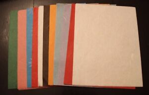 50 Sheets of Translucent Thin Tissue Saa MULBERRY Paper - 10 colors