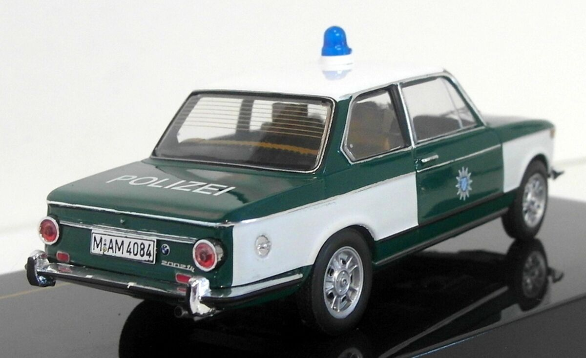 BMW 2002 TII POLIZEI 1972 IXO CLC255 1 43 GERMAN POLICE DEUTSCHE LHD LEFT HAND