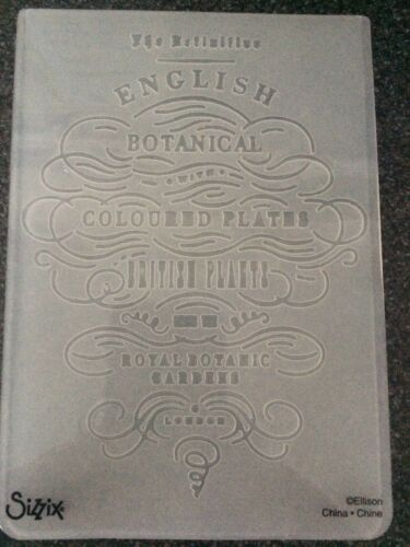 SIZZIX EMBOSSING FOLDER ENGLISH BOTANICAL NEW FREE P/&P 658353 BRENDA WALTON
