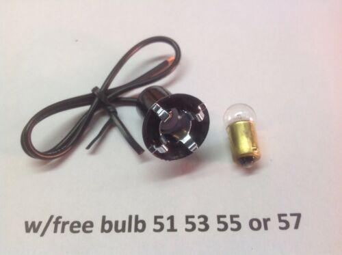 Electrical socket 51 55 53 57 small bulb 6 12 24 volt dash panel board license