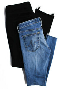 AG-Adriano-Goldschmied-Women-039-s-Skinny-Jeans-Cotton-Blue-Black-Size-26-29-Lot-2