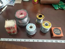 Vintage Ersin Multicore Nassau Atampt Kester Torch Electrical Radio Solder 8lbs