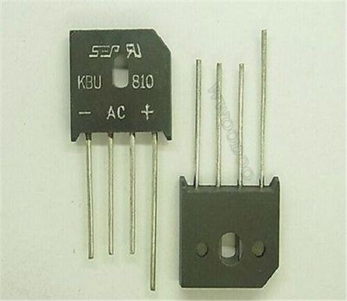 10Pcs Bridge Rectifier KBU810 8A1000V qq