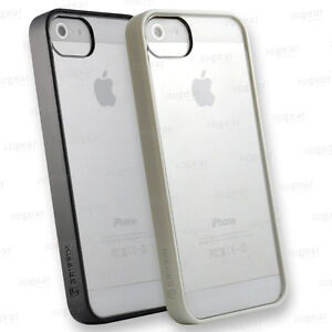 cheap for discount 0de08 97eab Details about GRIFFIN REVEAL THIN CLEAR CASE PROTECTIVE COVER FOR IPHONE 5  5S SE WHITE BLACK