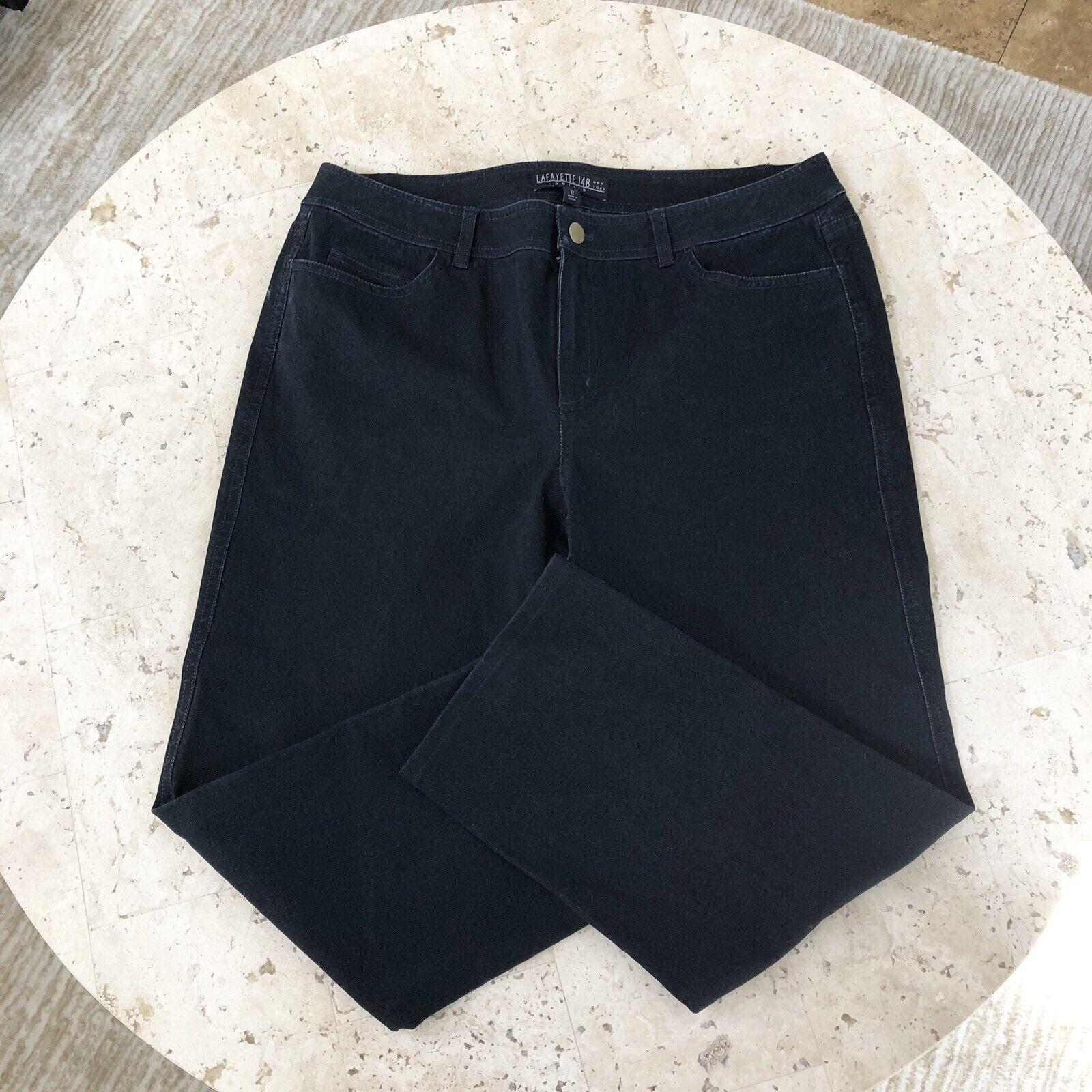 Lafayette 148 Crop Capri Jeans Size 12 NWOT bluee Dark Wash Womens