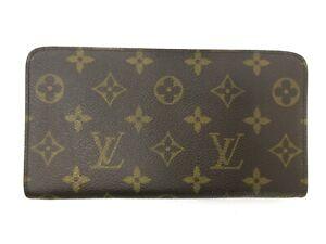Auth Louis Vuitton Monogram Porte Monnaie Reißverschluss m61727 lang Geldbörse Leder 93304