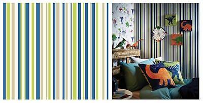 Arthouse gagner votre Rayures Enfants Bleu Vert Gris Blanc Papier Peint 668700