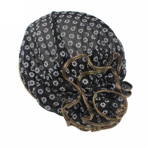 Blumen Skullies Beanies Hut Mütze Kopftuch Turban Chemo Bandana Kopfbedeckung