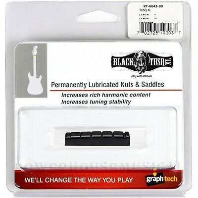 GRAPH TECH BLACK TUSQ XL SLOTTED NUT PRS® SE GUITAR 43X6mm PT-6643-00