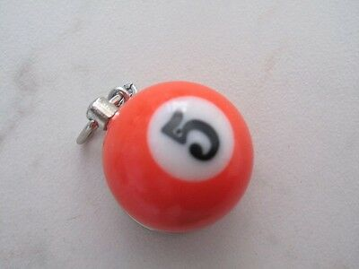 Portachiavi porta chiave palla pallina biliardo bigliardo Rosso n° 3