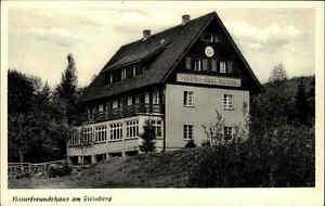 Steinberg Postkarte ~1950/60 Partie Naturfreundehaus Gebäude Bauwerk Landschaft