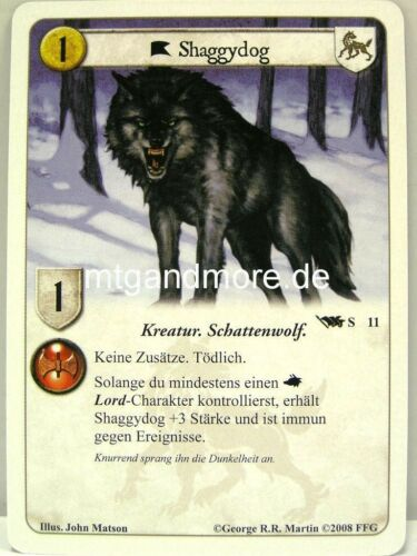 A Game of thrones lunaires-base set germano 1x broussaille #011 s