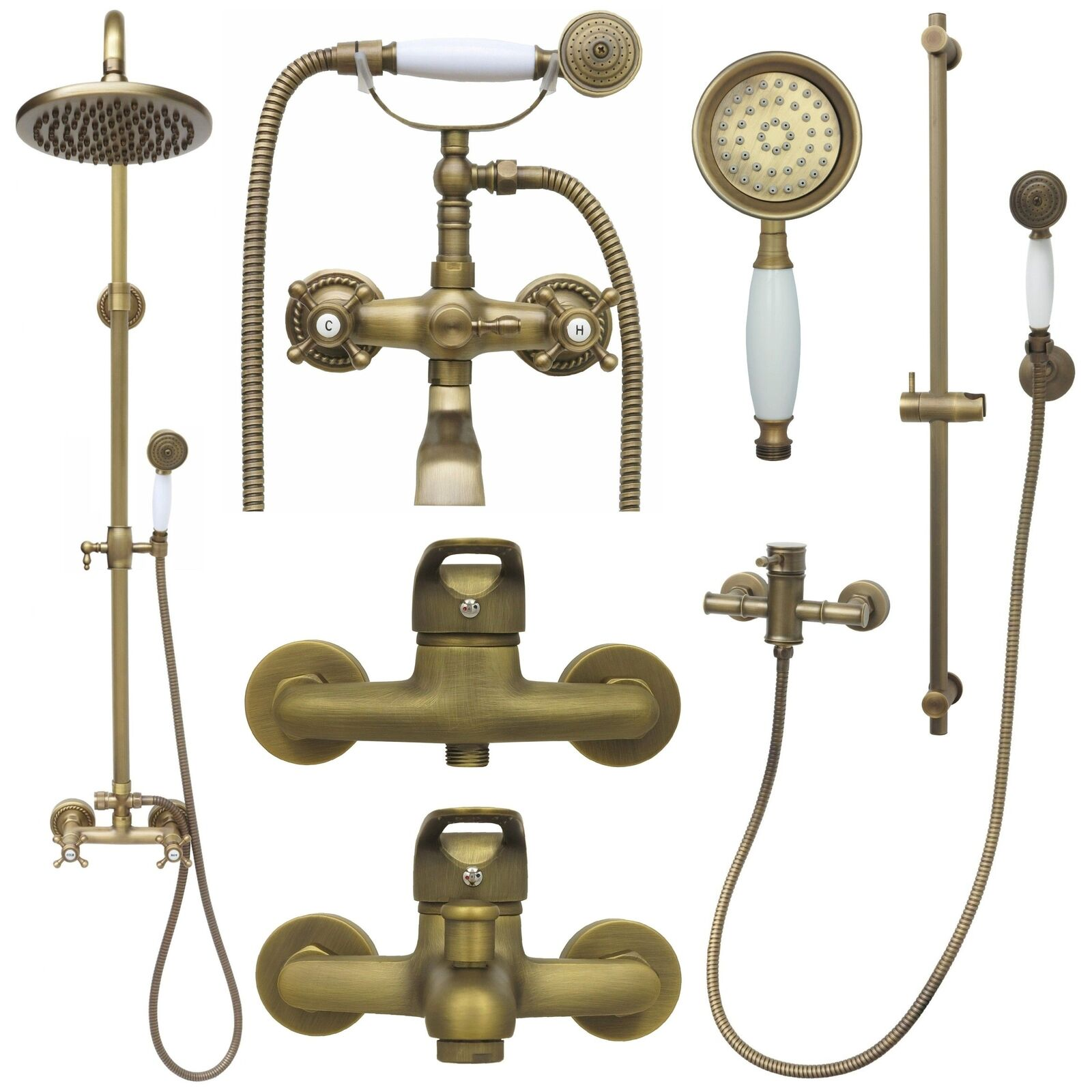 Retro Duschset Regendusche Duschsystem Armatur Dusche Antik Nostalgie Handbrause | Verwendet in der Haltbarkeit  | Vollständige Spezifikation  | Deutschland Shop  | Qualität und Quantität garantiert