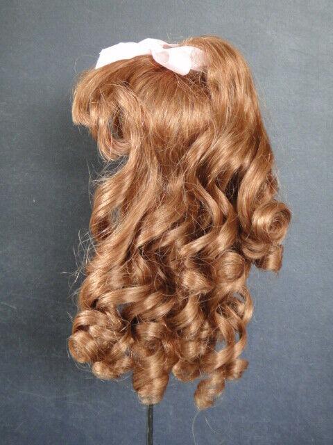 PERRUQUE T7 (28.5cm) 100% cheveux naturels de POUPÉE ancienne ou moderne FRANCE