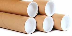 Postal-Tubes-Packing-Tubes-End-Caps-Many-Sizes-Poster-Tubes-Pack-Of-12