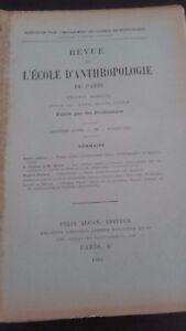 Rivista SCUOLA Antropologia 12EME Anno 1902 F.Alcan N°7 ABE