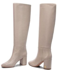 0bd3e7fedb65  498 New Tory Burch BROOKE SLOUCHY BOOTS Dust Storm Leather Grey ...