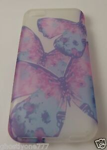 fits-iPhone-5C-phone-case-soft-rubber-pinks-purples-blues-butterfly-design