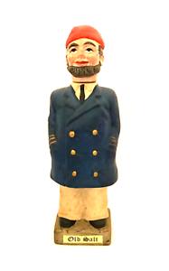"Old Salt Ceramic Decanter Vintage Uniformed Sailor Seaman 11"" Tall"