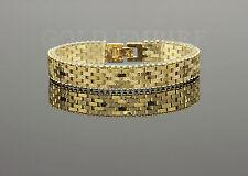 Luxus Damen/Herren Armband Dubai 19,5cm x 13mm, 999 Gold 24 Karat vergoldet 1216