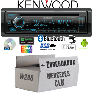Kenwood radio para mercedesclk w208 Bluetooth iPhone Android cd//mp3//usb kit de integracion